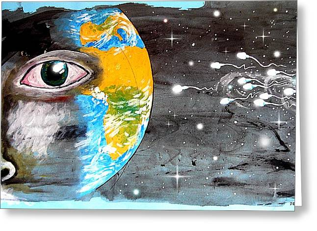 Fertilization Mixed Media Greeting Cards - Our Cosmic Origin Greeting Card by Paulo Zerbato