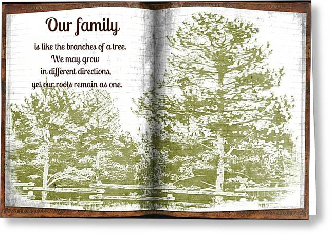 Our Family Roots Greeting Card by Michelle Frizzell-Thompson