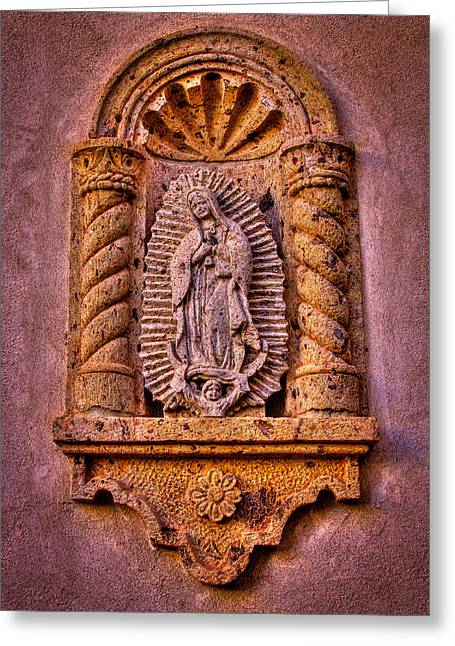 Our Lady Of Guadalupe Greeting Cards - Our Lady of Guadalupe at the Chapel in Tlaquepaque  Greeting Card by David Patterson