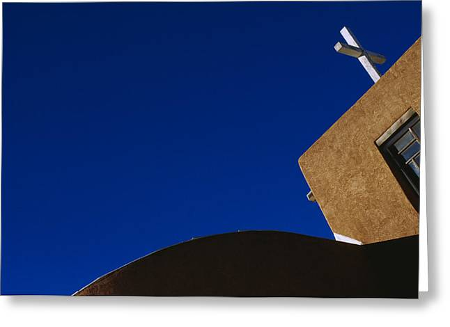 Taos Greeting Cards - Our Lady Of Guadalupe Church In Taos Greeting Card by Raul Touzon