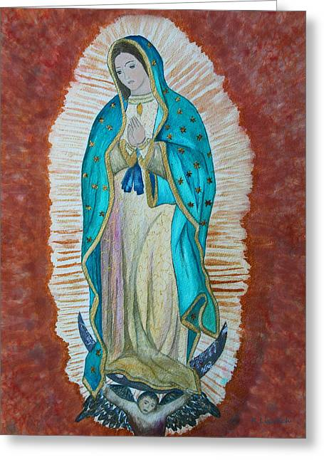 Our Lady Of Guadalupe Greeting Cards - Our Lady of Guadalupe Greeting Card by Kerri Ligatich