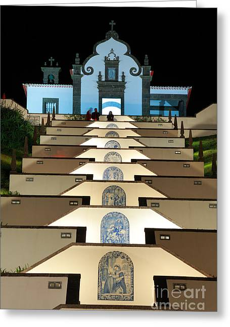 Miguel Art Greeting Cards - Our Lady of Peace chapel  Greeting Card by Gaspar Avila