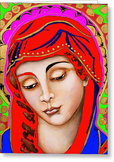 Our Lady Of Sorrows Greeting Card by Christina Miller