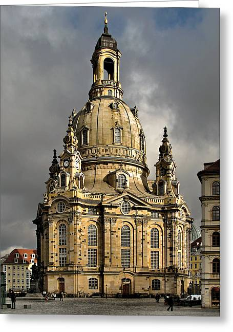 Rococo Greeting Cards - Our Ladys Church of Dresden Greeting Card by Christine Till
