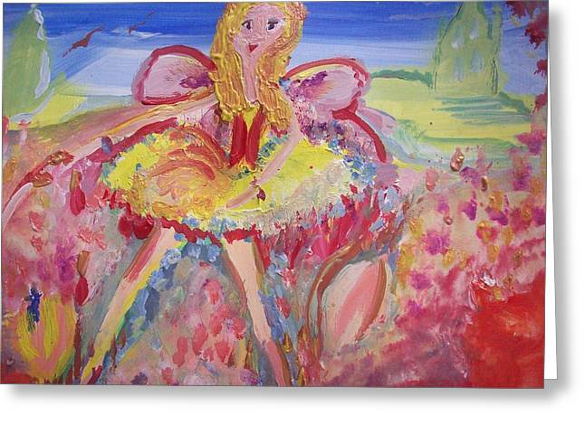 Liverpudlian Greeting Cards - Our Mary Scouse Fairy Greeting Card by Judith Desrosiers