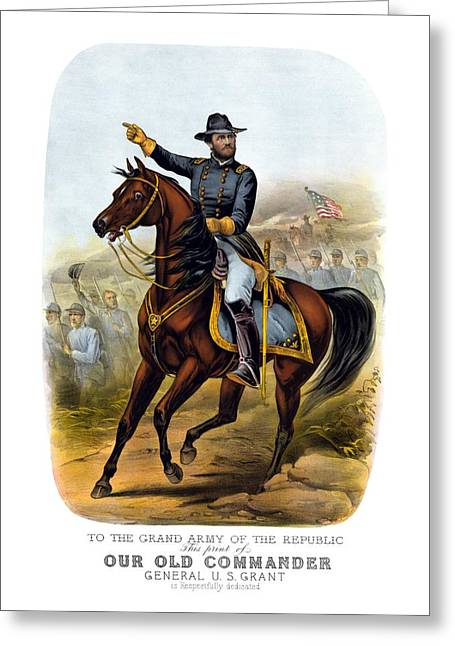 American Civil War Drawings Greeting Cards - Our Old Commander Greeting Card by War Is Hell Store