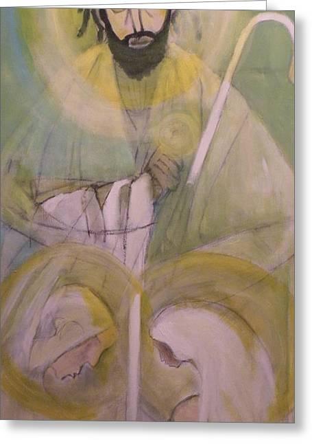 Robert Daniels Paintings Greeting Cards - Our Sheppard Greeting Card by Robert Daniels