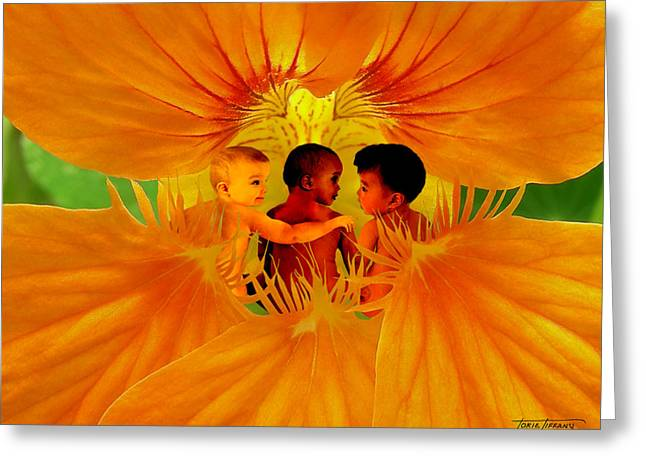 Floral Digital Art Digital Art Greeting Cards - Our Sons Greeting Card by Torie Tiffany