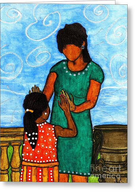 Survivor Art Greeting Cards - Our Time Greeting Card by Angela L Walker