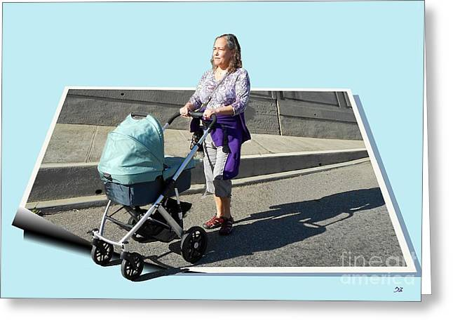 Out For A Stroll Greeting Card by Ron Bissett