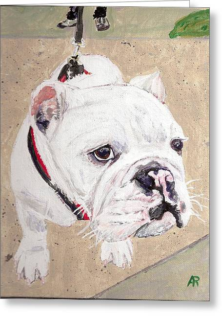 Arthur Rice Greeting Cards - Out for a walk. Greeting Card by Arthur Rice