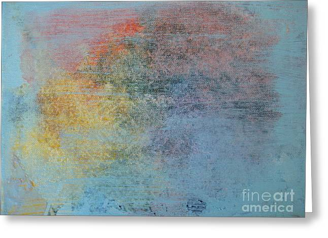 Wax Mixed Media Greeting Cards - Out of the Blue Greeting Card by Nancy Pace