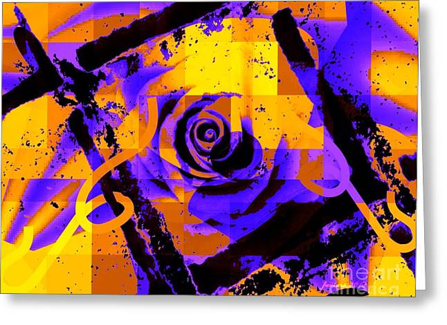 Out Of The Box Expression Greeting Card by Fania Simon