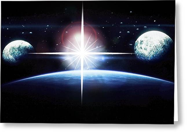 Susan Leggett Greeting Cards - Out of This World Greeting Card by Susan Leggett