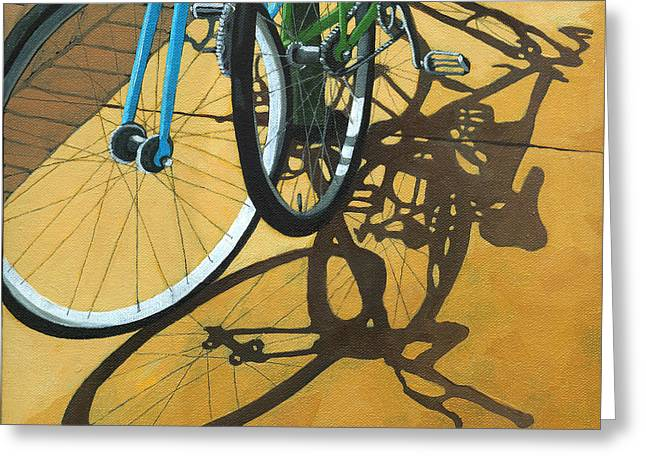 Bicycling Greeting Cards - Out to Lunch Greeting Card by Linda Apple