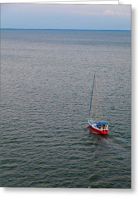 Water Vessels Greeting Cards - Out to Sea Greeting Card by Chad Dutson