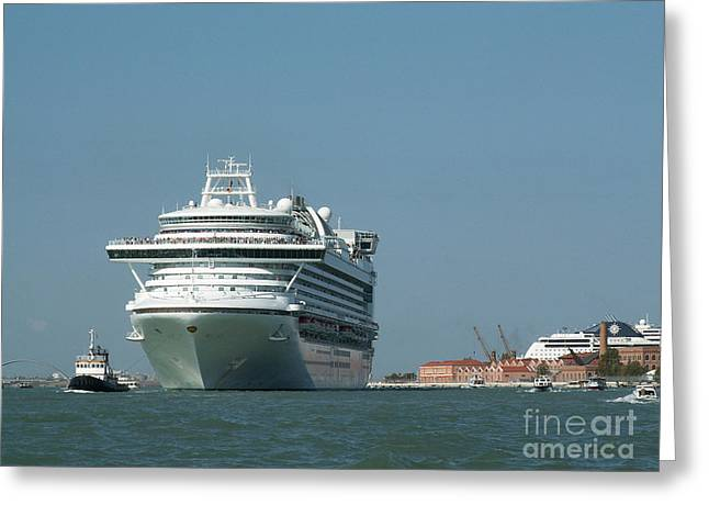 Out To Sea Greeting Card by Evgeny Pisarev