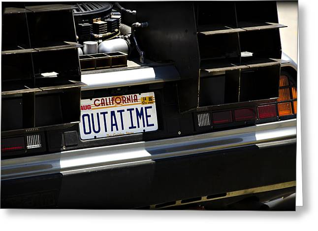 Back To The Future Greeting Cards - Outatime Greeting Card by Ricky Barnard