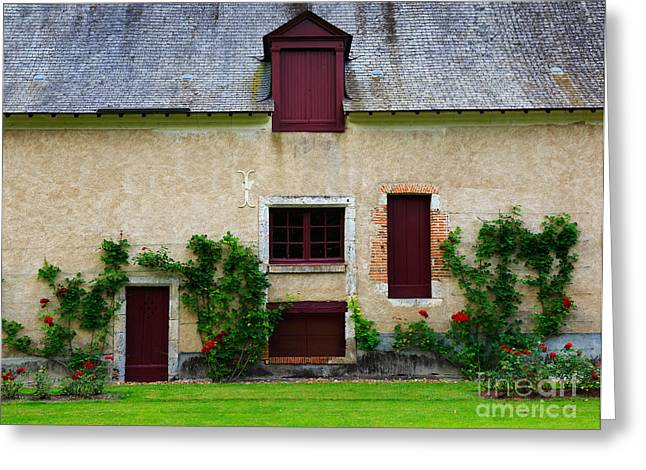 Outbuilding Greeting Cards - Outbuildings of Chateau Cheverny Greeting Card by Louise Heusinkveld