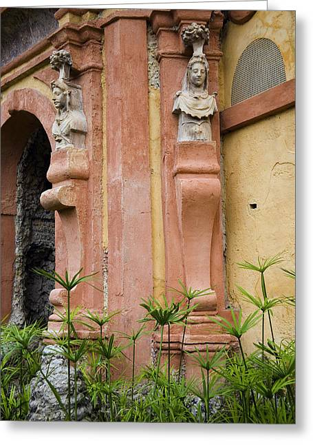 Caryatids Greeting Cards - Outdoor Architectural Detail Greeting Card by Scott S. Warren