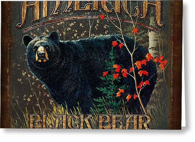 Outdoor Bear Greeting Card by JQ Licensing