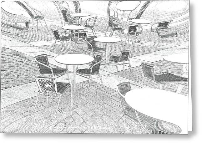 Al Fresco Greeting Cards - Outdoor cafe Greeting Card by Tom Gowanlock