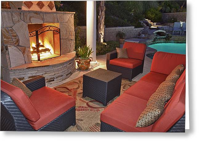 Residential Structure Greeting Cards - Outdoor Patio Living Space Greeting Card by Bryan Mullennix