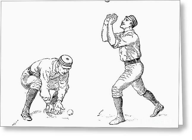 Outfielder, 1889 Greeting Card by Granger
