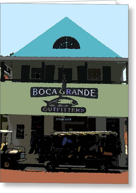 Boca Grande Greeting Cards - Outfitters Boca Grande style Greeting Card by David Lee Thompson