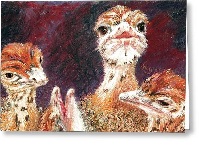 Outsdoorn Babes Greeting Card by Vicki Ross