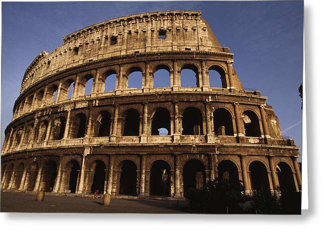 Art Of Building Greeting Cards - Outside Of The Collosseum, Rome, Italy Greeting Card by Paul Chesley