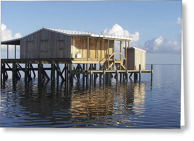 Stiltsville Greeting Cards - Outside Plumbing Greeting Card by Kevin Brant