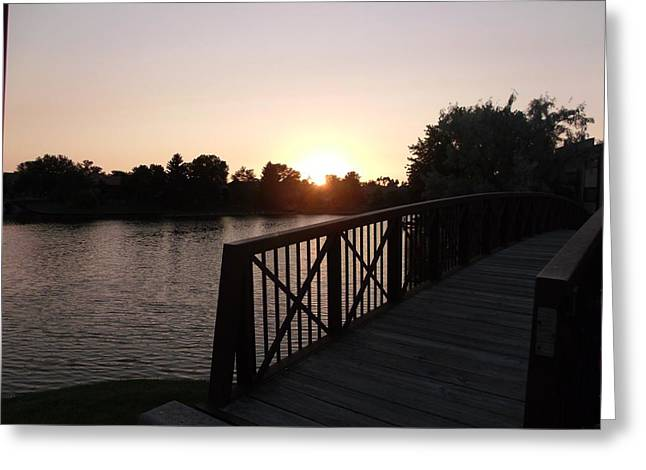 Over The Bridge Sunset Greeting Card by Brian  Maloney