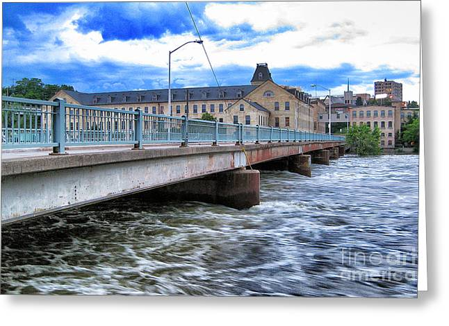 Appleton Greeting Cards - Over The Fox River Greeting Card by Shutter Happens Photography