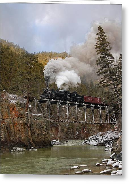 Top Seller Greeting Cards - Over the High Bridge Greeting Card by Ken Smith