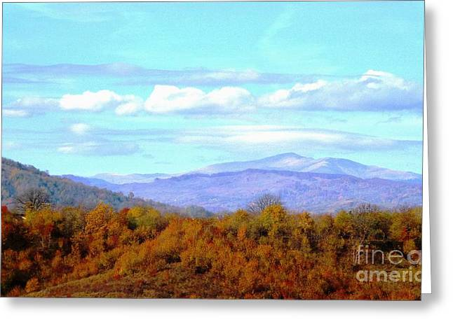 Over The Hills Greeting Card by AmaS Art