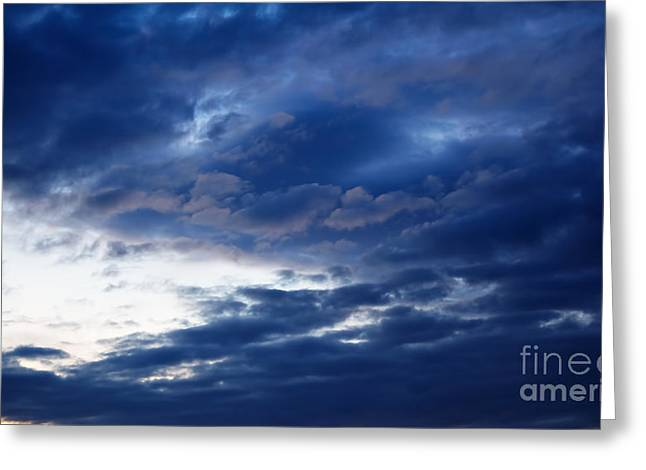 Overcast Sky In The Morning Greeting Card by Gabriela Insuratelu