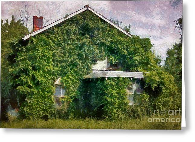 Unoccupied Greeting Cards - Overgrown House Seven Greeting Card by Susan Isakson