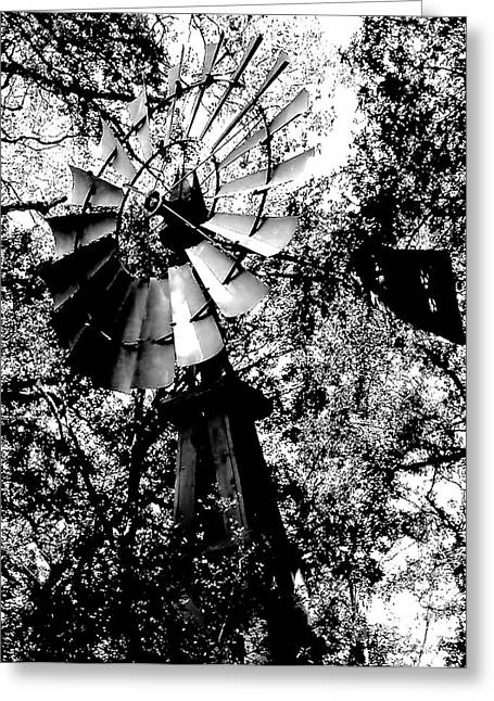 Aermotor Greeting Cards - Overgrown Windpump Greeting Card by Robert Frederick