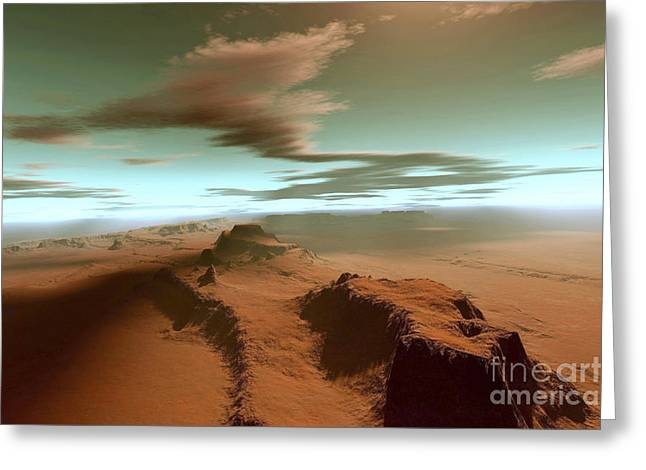 Creativity Desert Greeting Cards - Overhead View Of A Vast Desert Greeting Card by Corey Ford