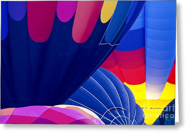 Overlapping Hot Air Balloons  Greeting Card by Gordon Wood