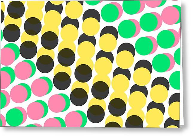 Overlayed Dots Greeting Card by Louisa Knight