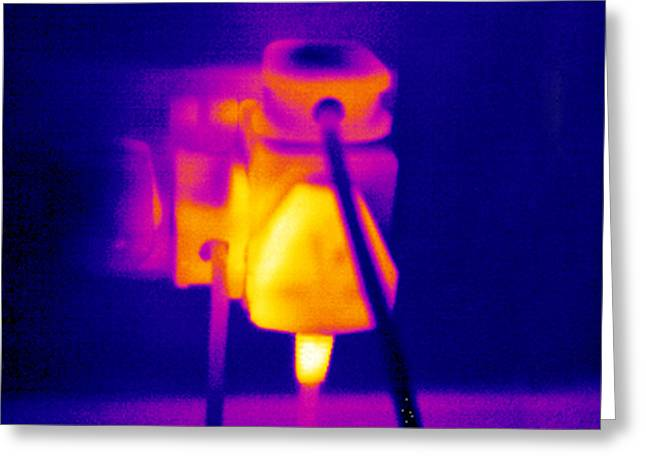Thermograph Greeting Cards - Overloaded Socket, Thermogram Greeting Card by Tony Mcconnell
