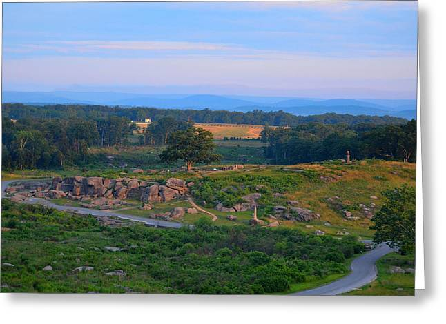 Devils Den Greeting Cards - Overlook of the Gettysburg Battlefield Greeting Card by Dave Sandt