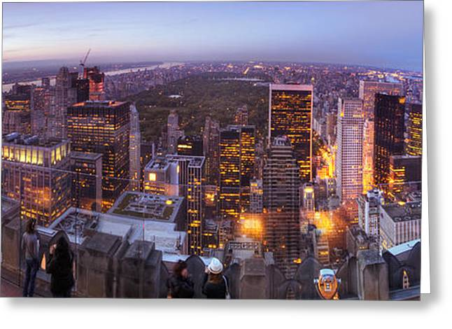 Popular Art Greeting Cards - Overlooking Central Park Greeting Card by Yhun Suarez
