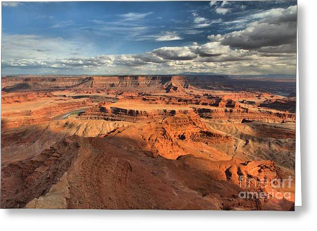 Dead Horse Point Greeting Cards - Overlooking Dead Horse Point Greeting Card by Adam Jewell