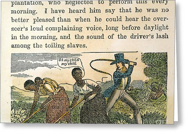 Farmers Field Greeting Cards - Overseer Whipping Slaves Greeting Card by Granger