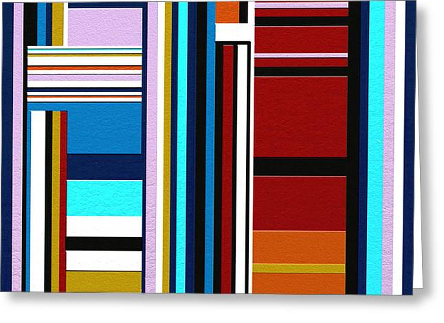 Geometrical Art Greeting Cards - Overture Greeting Card by Ely Arsha