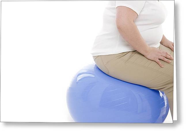 30-34 Years Greeting Cards - Overweight Woman Greeting Card by