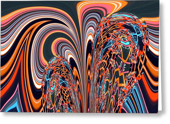 Abstract Style Greeting Cards - Owar No.4 Greeting Card by Danny Lally